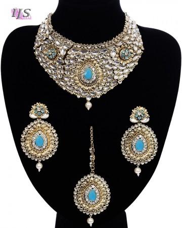 Statement Pastel Collar Necklace Set NGPK11733C