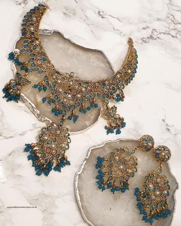 Blue Necklace Set NANP0439