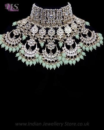 Statement Sabyasachi Indian Kundan Wedding Jewellery NGWK11785C
