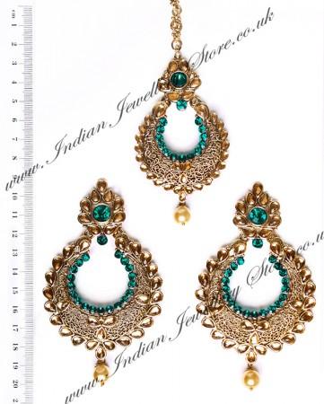 Arora Earrings & Tikka IAL010269