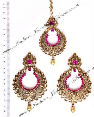Arora Earrings & Tikka IAC010275C