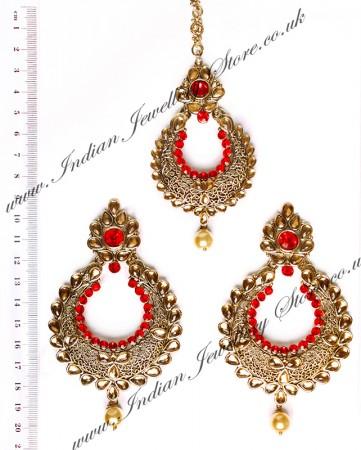 Arora Earrings & Tikka IAR010273