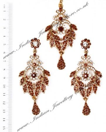 Yashi Earrings and Wider Tikka IANC04080