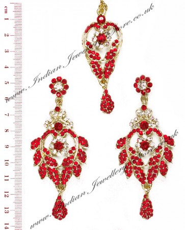 Yashi Earring and Slim Tikka IARC04258