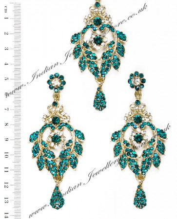 Yashi Earring and Wider Tikka IALC04260