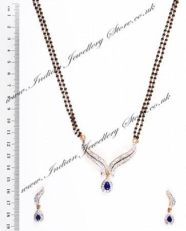 Sapphire Blue Mangalsutra Set MGLA04434