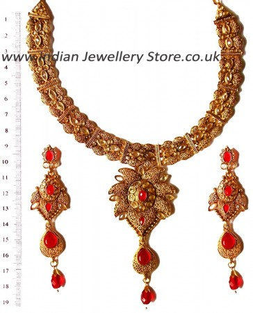 Red Necklace Set NARP0354