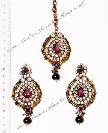 Ayeesha Earrings and Tikka IAUC02683
