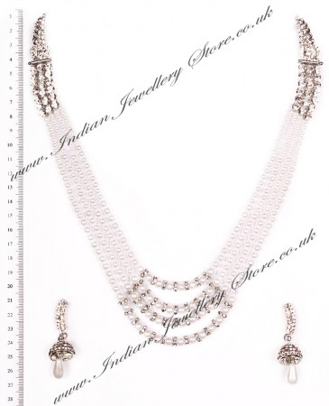 Long Indian Necklace Set NSWC03654