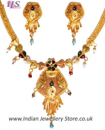 22k Effect Indian Necklace Set NGMP04694