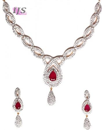 American Diamond Necklace Set NGRA04724