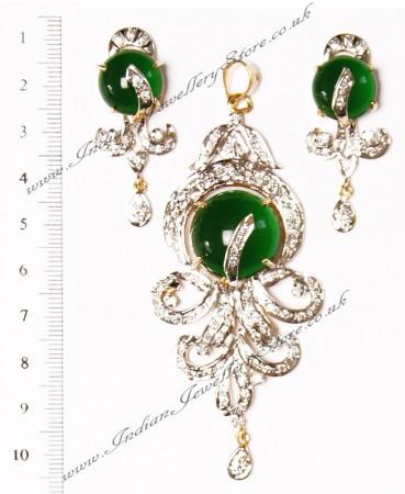 American Diamond Pendant Set NGGA02875