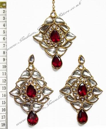 TRISHA Large Earrings and Tikka IGRK0548
