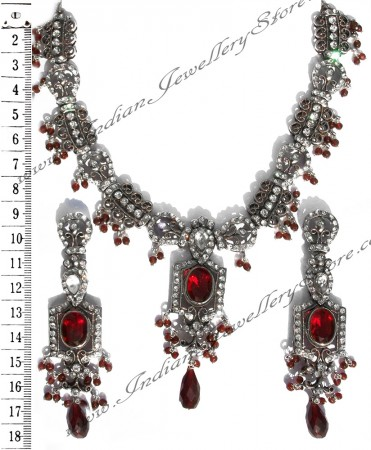 Red crystal necklace set NSRC1027