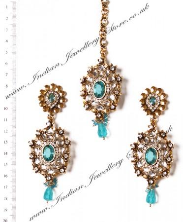 MIA Earrings and Tikka IALK03455