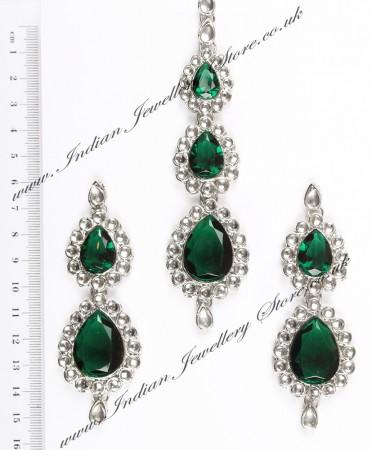 Sweety Kundan Earrings and Wide Tikka Set ISGK04850