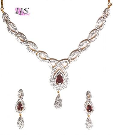 American Diamond Necklace Set NGUA04725