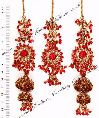 Sahara Jhumka Earrings & Tikka Set IARP10255
