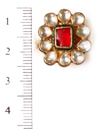 Small Kundan Mughal Ring RAMK04162