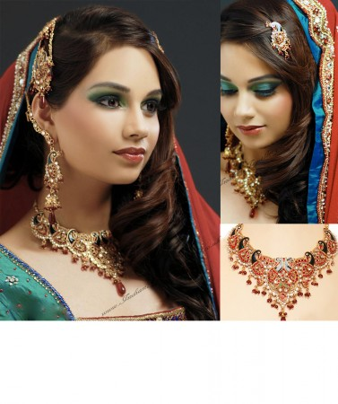 Peacock Kundan Bridal Set NGMK03243