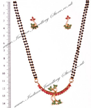 Coloured Mangalsutra Set MGAA03959