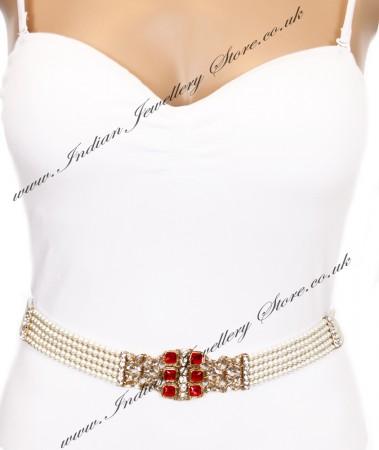 Mughal Pearl Waist Belt LARK04280C