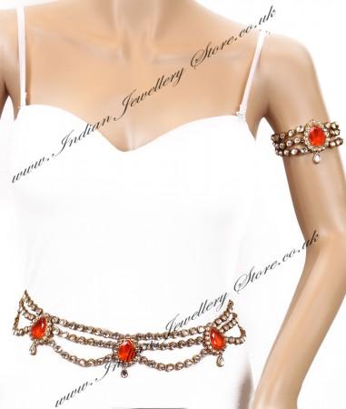 KAYA Saree Belt and Bajuband Set LAOK04266