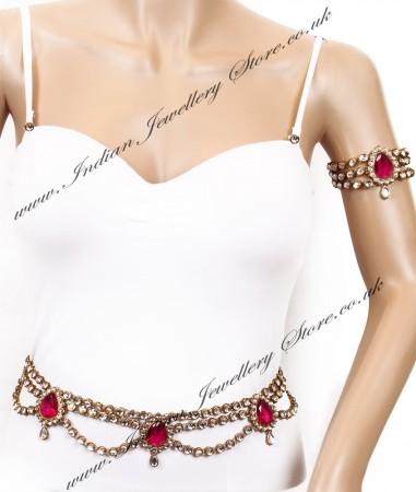 KAYA Saree Belt and Bajuband Set LAPK04270