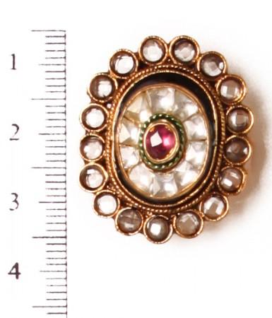 Medium Kundan Ring RGWK10314