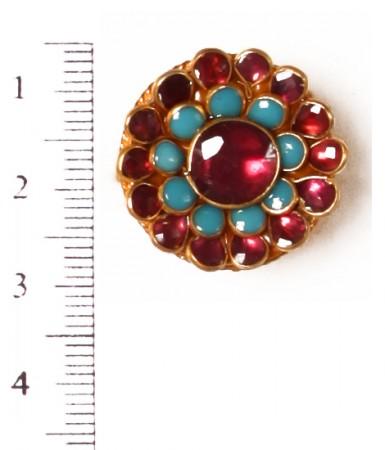 Small Kundan Mughal Ring RAMK04161