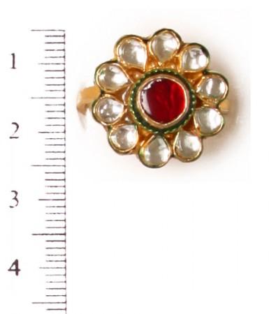 Small Kundan Mughal Ring RAMK04163