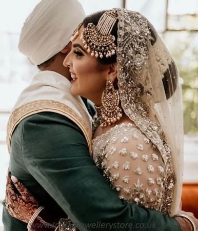 Jahanara - Regal Indian Kundan & Pearl Bridal Jewellery NAWK11705C
