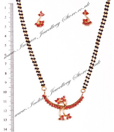 Coloured Mangalsutra Set MGRA03963