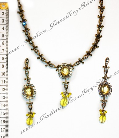 Yellow Necklace Set NAYC0971