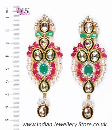 Large Indian Earrings ESMA04352