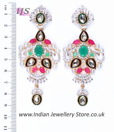 Large Indian Earrings ESMA04353