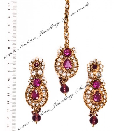 RAJNI Earrings and Tikka IAUC03454