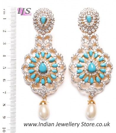 Lolita Earrings - Sky Blue EGLA03550