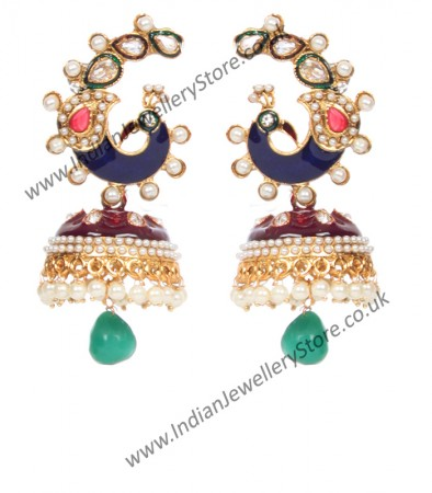 Large Peacock Jhumka EGML10342