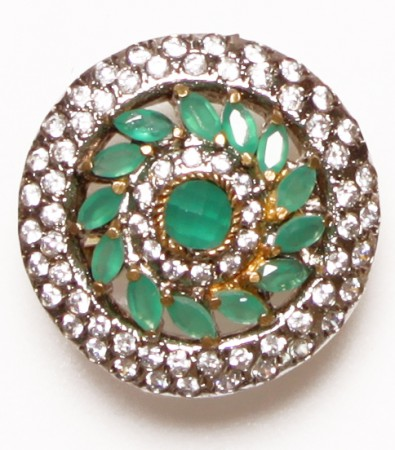 Medium Indian Ring - Mint Green RGGA02759