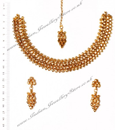 22k Effect Necklace Set NGWA03164