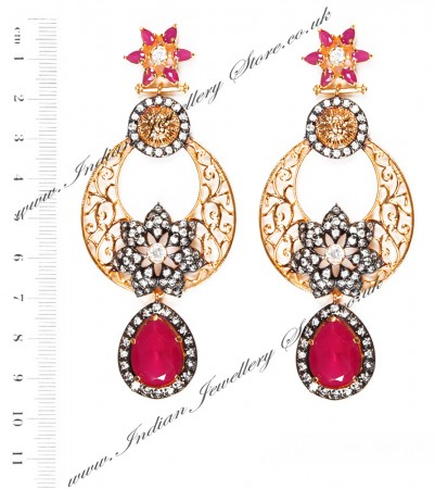 NISHA Indian Earrings EARA04057