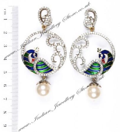Fine Peacock Earrings ESMA03812