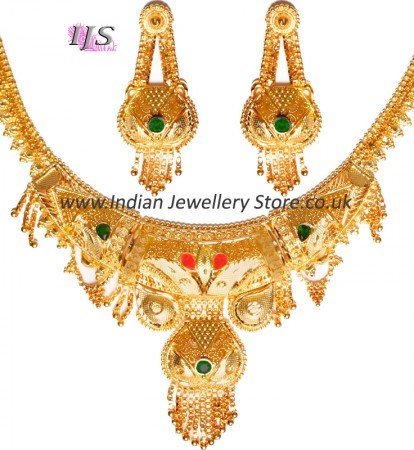 22k Effect Indian Necklace Set NGAP04698