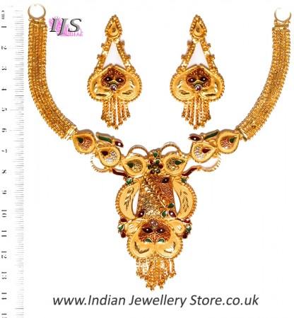 22k Effect Indian Necklace Set NGMP04696
