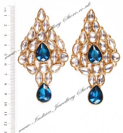 KUSHI Kundan Earrings EGLK03334