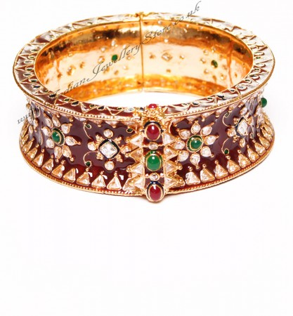 1 x Maroon Indian Meenakari Bangle 2.8 WGAP02981