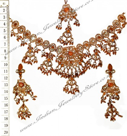 Brown Necklace Set NGNP02364