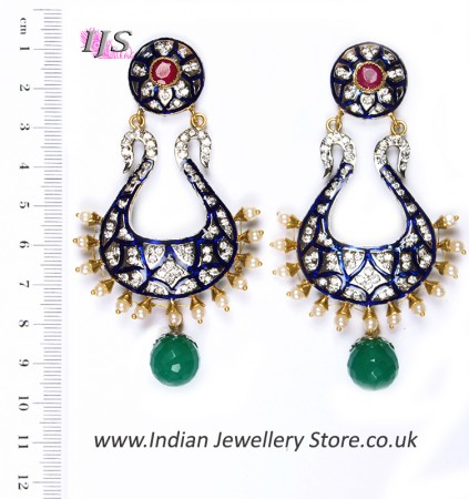 Neha Large Indian Earrings ESMA04344