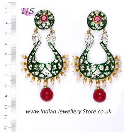 Neha Large Indian Earrings ESAA04346